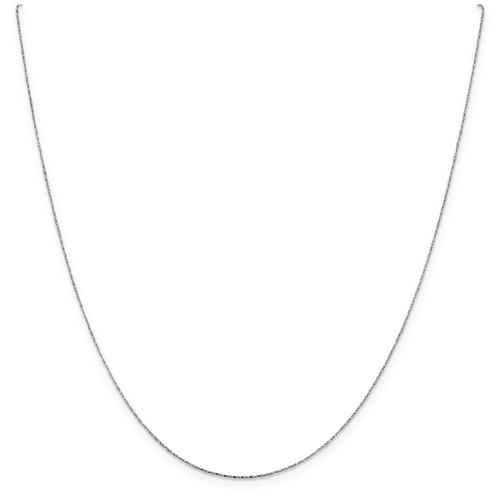 .6 mm Diamond-cut Twisted Box Chain 18 Inch 14K White Gold 7187-18