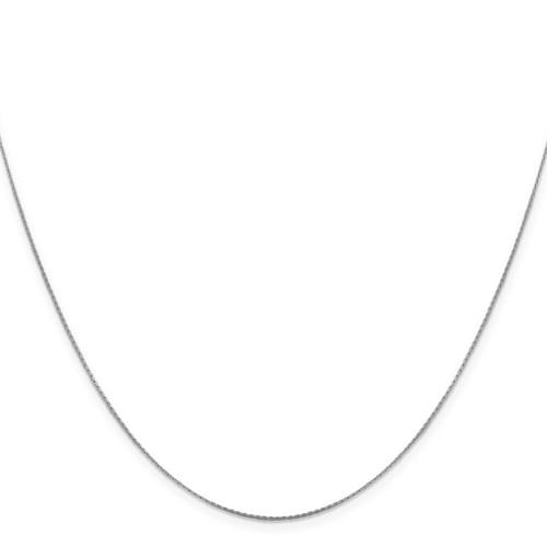 .6 mm Boston Link Chain 18 Inch 14K White Gold 7192-18
