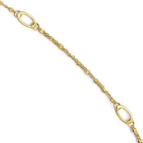1 inch Extender Anklet 10 Inch 14k Gold Polished LF566-10