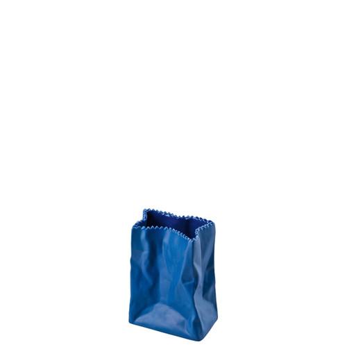 Rosenthal Bag Vase Vase Deep Blue 4 Inch