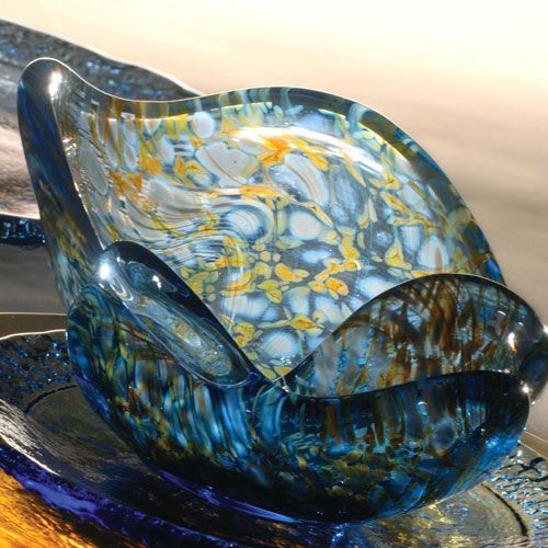 Fire and Light Splash Bowl - Crackle
