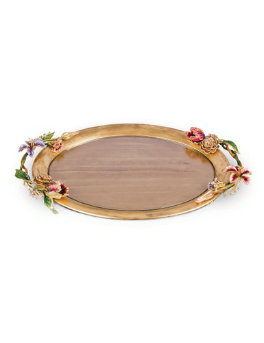 Jay Strongwater Thatcher Floral Oval Tray Bouquet SDH2410-289