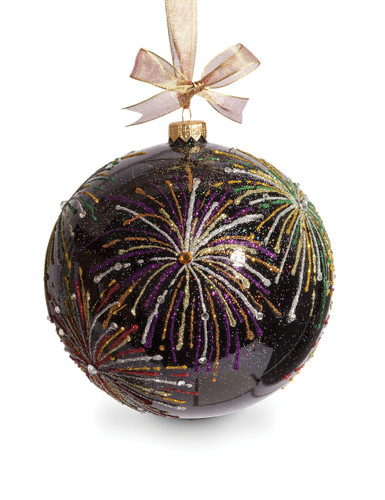 Jay Strongwater Fireworks Artisan 6 Inch Ornament Black SDH2260-273