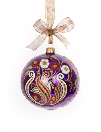 Jay Strongwater Paisley Artisan 4 Inch Ornament Bouquet SDH2261-289