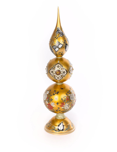 Jay Strongwater Triple Artisan Finial Golden SDH2271-232