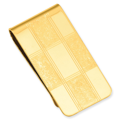 Four Square Engravable Money Clip Gold-plated KW684