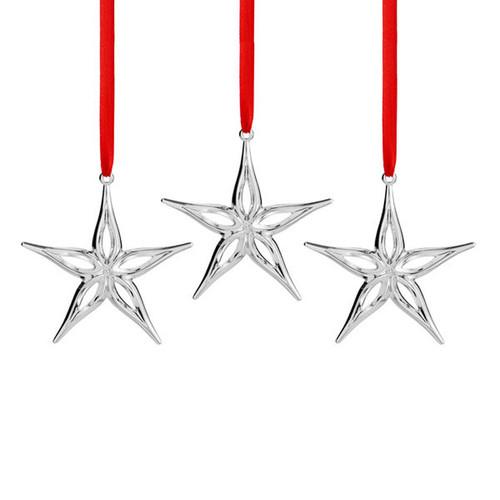 Nambe Star Mini Ornaments Set of 3 Silver Plate, MPN: MT0878, UPC: 672275308787