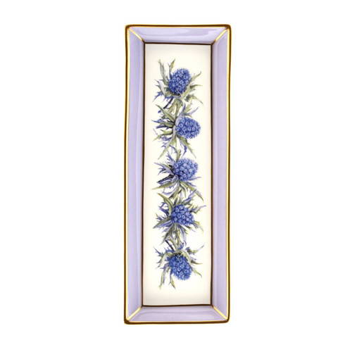Halcyon Days Shell Garden Floral Thistle Lilac Rectangular Tray BCCTH27RTG