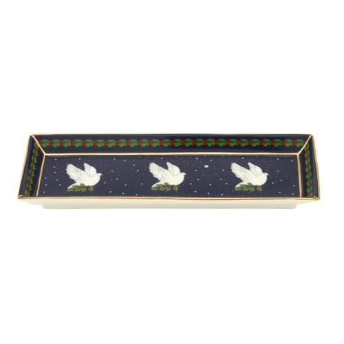 Halcyon Days Dove of Peace Rectangular Tray BCDOP11RTG