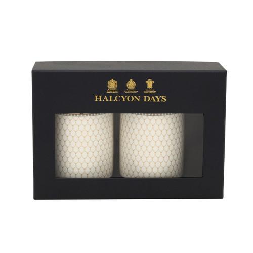 Halcyon Days Antler Trellis Ivory Mug Set of 2 BCGAT04MSG