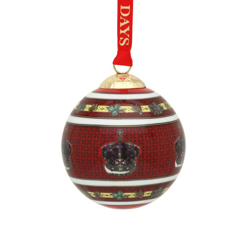 Halcyon Days The Imperial Crown Of India Bauble Ornament BCHIC06XBN