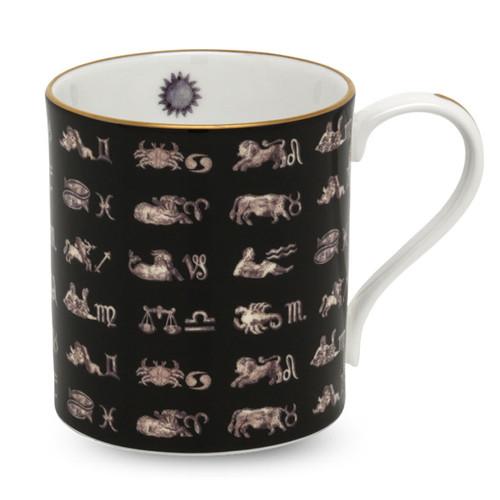Halcyon Days Star Sign Black Mug BCHSS02MGG