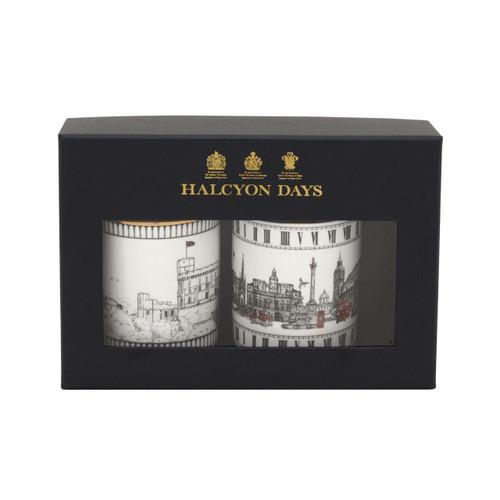 Halcyon Days The London Icons & Windsor Castle Mug Set of 2 BCLIW03MSG