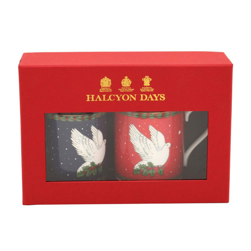 Halcyon Days Dove of Peace Blue & Red Mug Set of 2 BCMOP01MSG