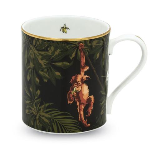 Halcyon Days Orangutan Black Mug BCORA02MGG