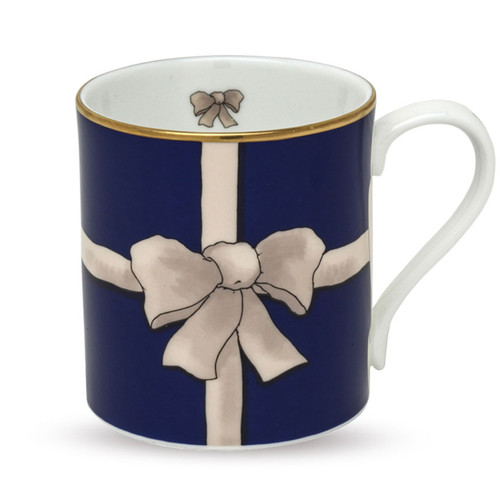 Halcyon Days Ribbon Blue Mug BCRIB11MGG