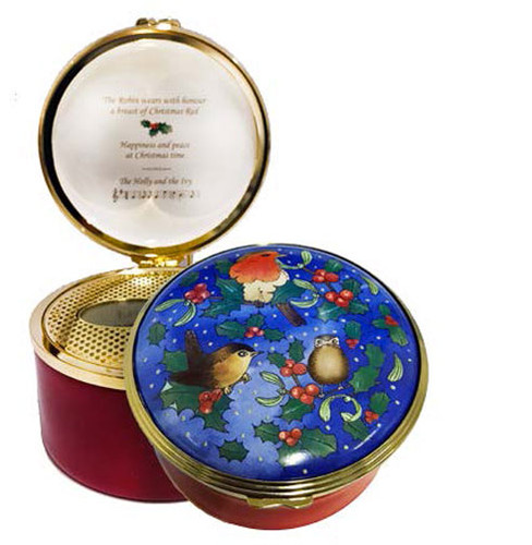 Halcyon Days Christmas Robin Musical Enamel Box, MPN: ENROB0633MG, EAN: 5060171160984