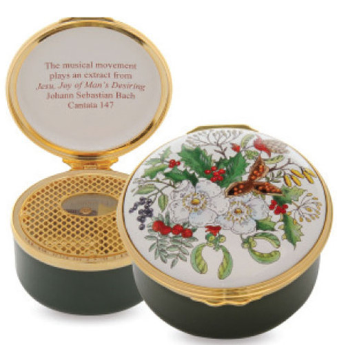 Halcyon Days The Christmas Rose Musical Enamel Box, MPN: RNTCR0933MG, EAN: 5060171139768
