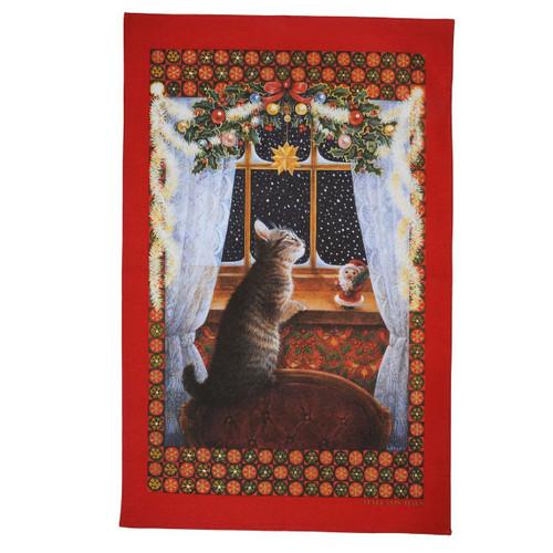Halcyon Days LAI Christie Looking for Father Christmas Tea Towel SALCF06TT