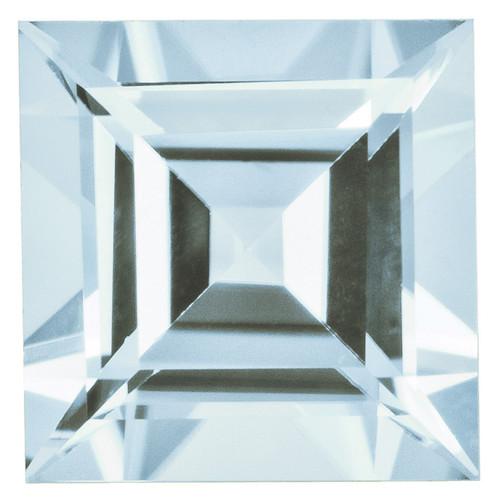 Aquamarine 5mm Square Step Cut Gemstone AQ-0500-SQS-AA