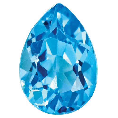 Blue Topaz 4X3mm Pear Gemstone BT-0403-PSF-AA