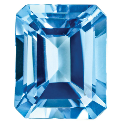 Blue Topaz 5X3mm Emerald Cut Gemstone BT-0503-OCE-AA