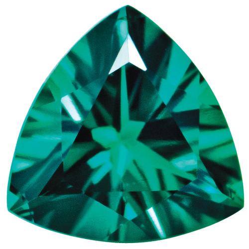 Created Emerald 5mm Trillion Gemstone CE-0500-TRF