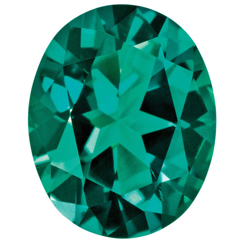 Created Emerald 5X3mm Oval Gemstone CE-0503-OVF