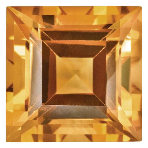 Citrine 3mm Square Step Cut Gemstone CI-0300-SQS-AA