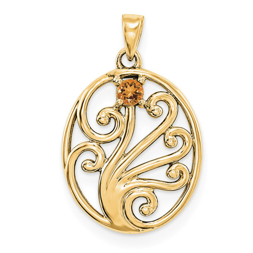 14K Yellow Gold Genuine  Family & Mother's Pendants YM1440-1GY