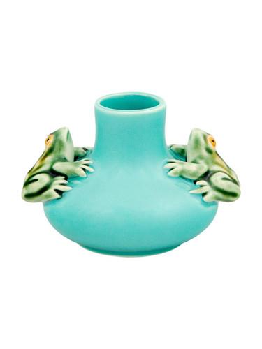 Bordallo Pinheiro Arte Bordallo Medium Vase Two Frogs Decorated 65003935
