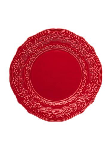 Bordallo Pinheiro Christmas  Red Dinner Plate MPN: 65002068 EAN: 5600876072108
