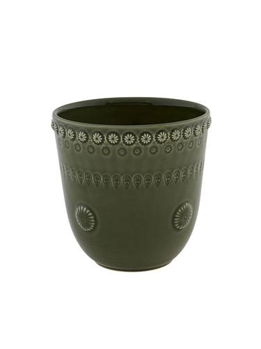 Bordallo Pinheiro Fantasy Vase Olive Green 65021286