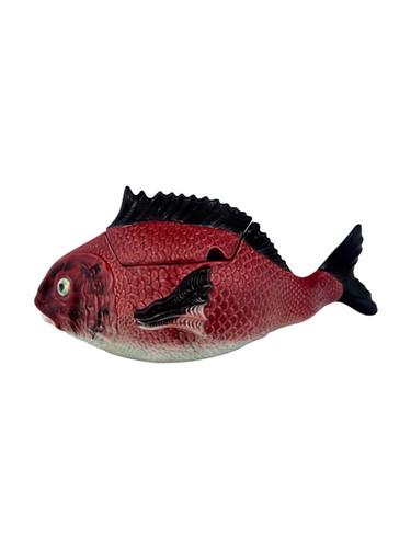 Bordallo Pinheiro Fish Decorated Red Tall Tureen L MPN: 65007004 EAN: 5600876078698