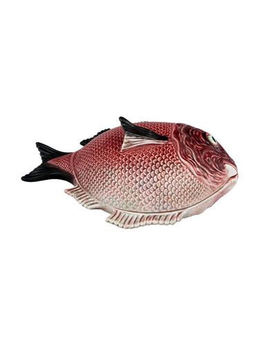Bordallo Pinheiro Fish Decorated Red Tureen L MPN: 65007001 EAN: 5600876078858