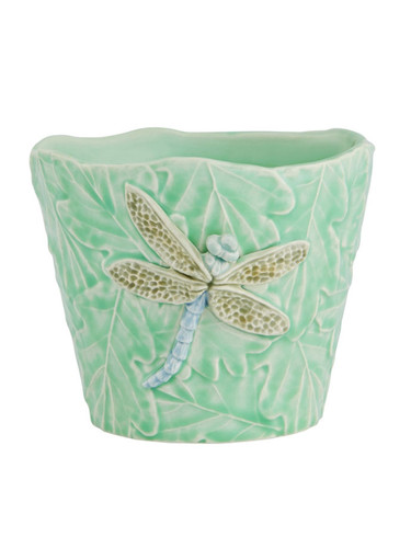 Bordallo Pinheiro Garden of Insects Vase with Dragonfly Decorated 65019403
