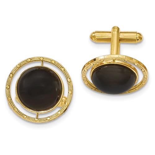 Black Onyx Cufflinks Gold-tone BF2698