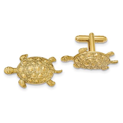 Textured Turtle Cufflinks Gold-tone BF2707