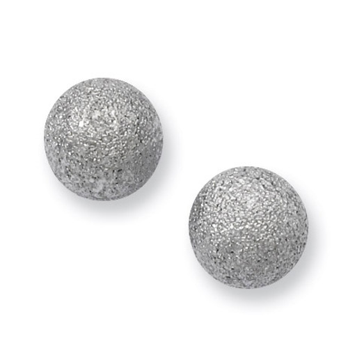 Laser Cut 8mm Bead Post Earrings - Stainless Steel SRE448