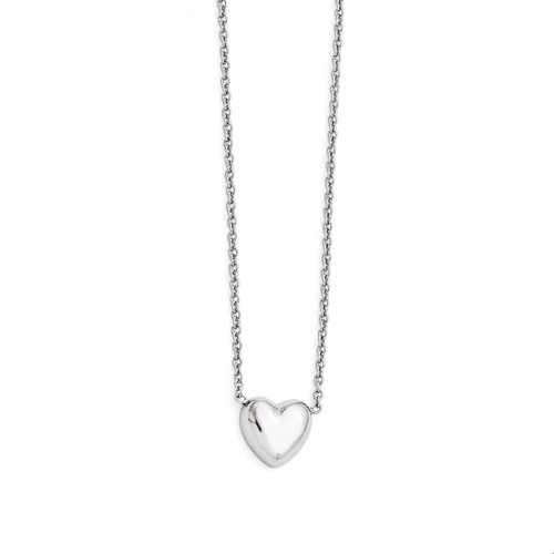Polished Heart Necklace - Stainless Steel SRN1458