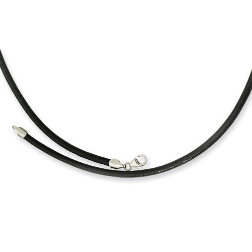 3.00 Genuine Leather Greece Textured Necklace SRN196