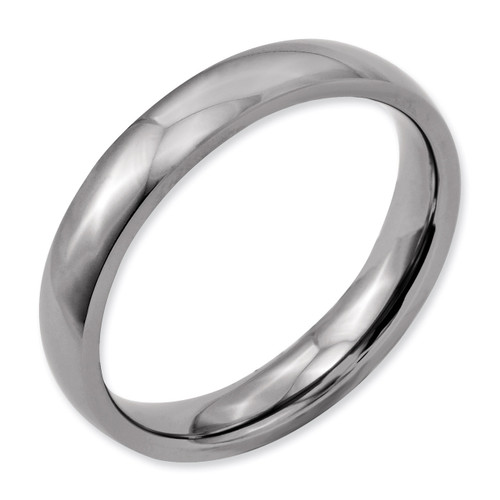 4mm Polished Band - Titanium TB21_CH