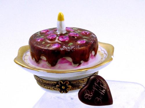 Chamart Birthday Cake Limoges Box 2005\006