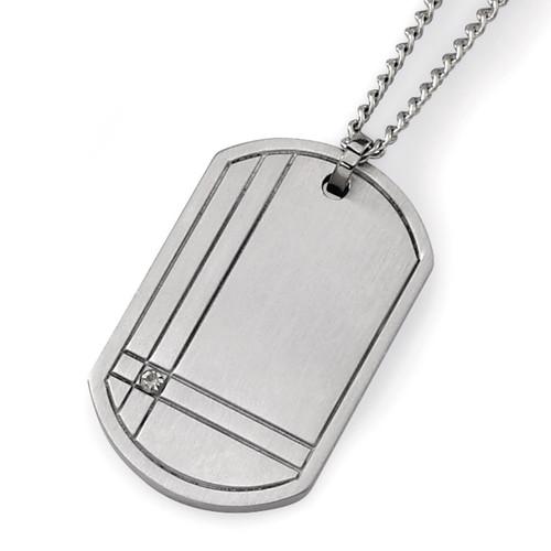 .01ct. Diamond Accent Necklace - Titanium TBN105