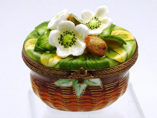 Chamart Basket Kiwi Blossom Limoges Box AC05-004