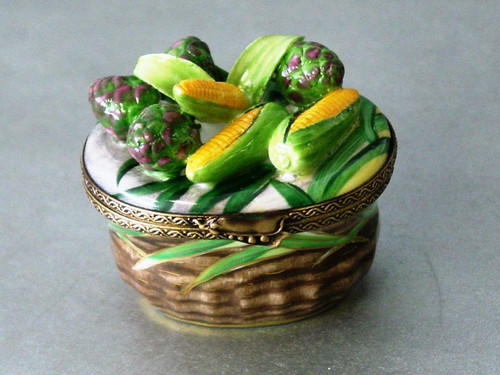 Chamart Basket Artichoke Corn Limoges Box AC05-017