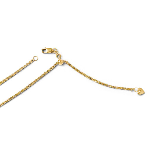 Adjustable Semi Solid Chain 22 Inch - 14k Gold 1208-22