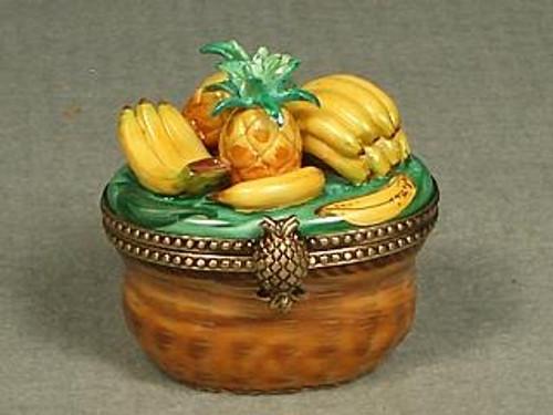 Chamart Basket Pineapple Banana Limoges Box AC09-003