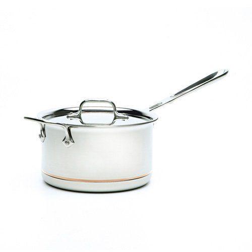 All Clad Copper Core 4 Qt. Sauce Pan with Loop & Lid
