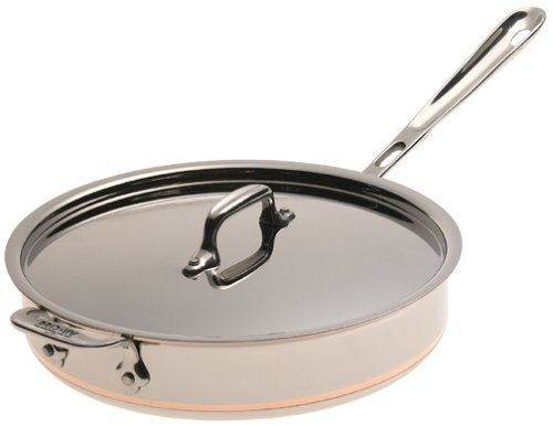 All Clad Copper Core 3 Qt. Saute Pan with Lid